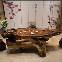 鸡翅木根雕茶几整体树根茶台实木雕刻茶桌