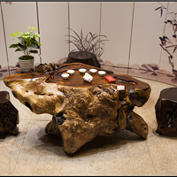 厂家直销鸡翅木根雕茶桌实木雕刻树根茶几