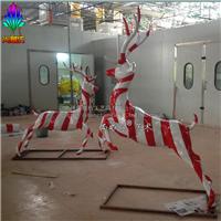 供应彩绘鹿雕塑  仿铜处理表面效果