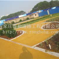 供应石家庄透水混凝土道路施工彩色透水地坪