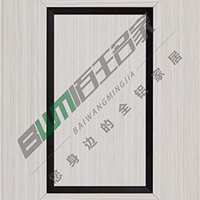 供应铝合金橱柜门金边门百叶门窗花门材料