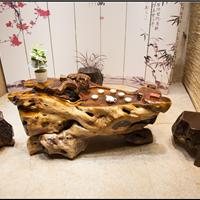 根雕茶桌鸡翅木茶几楠木整体树根雕刻茶台