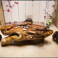 直销鸡翅木根雕茶几楠木整体雕刻树根茶桌