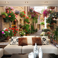 供应酒店个性墙纸 餐厅背景3D无缝壁画厂家