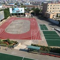 大连运动场最新无毒环保塑胶地面喷漆施工
