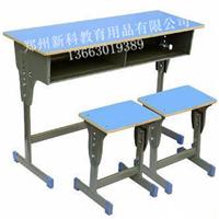 供应焦作课桌椅,双人钢木课桌椅