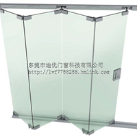 供应 迪优 玻璃无框折叠门