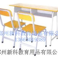 供应新乡双人钢木课桌椅,学生学习桌批发