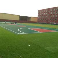 济南塑胶地板运动场人造草坪