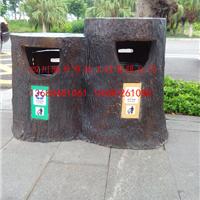 供应四川成都彭州地区混凝土仿树皮垃圾桶