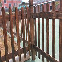 防腐木栅栏施工