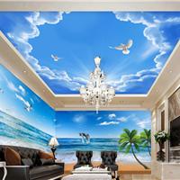 供应酒店主题工程墙纸 宾馆背景墙壁画