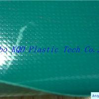 供应绿色涂刮镜面PVC夹网布