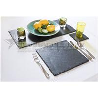供应西餐厅天然板岩食物餐盘餐垫