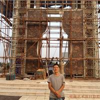 紫铜牡丹花浮雕壁画制作加工首选深圳金壁虎