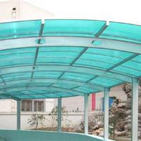 郑州地下出入口雨棚【小区电动车棚阳光板】
