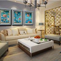 广州厂家批发水晶珠画美式玄关楼梯装饰画