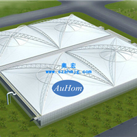 污水池反吊氟碳纤维膜|污水池盖板厂家|奥宏