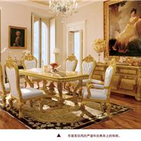 供应欧式实木餐桌榉木雕花餐台家用餐桌