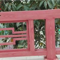 天工,护栏上做假木纹纹理木纹漆施工效果