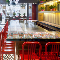 惠州铁板烧餐厅桌椅、卡座沙发定制厂家