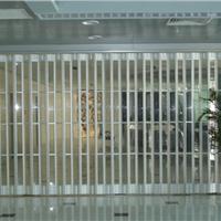 供应西安弧形pvc水晶折叠门吊轨门