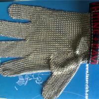 供应安全防护钢丝防割手套/不锈钢网孔手套