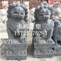 石雕狮子、汉白玉狮子价格、青石做旧狮子