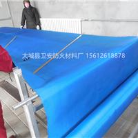 无机卷帘装饰布 蓝色玻璃纤维布 设备防护罩