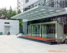 供应西安玻璃雨棚西安钢结构玻璃雨棚