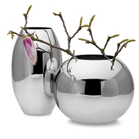 定制不锈钢玫瑰金花瓶花钵花盆