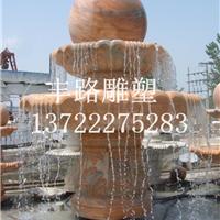定制石雕喷泉 转动风水球厂家