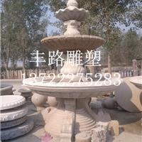 石雕风水球、晚霞红喷泉、汉白玉喷泉定制