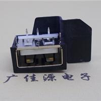 供应USB2.0短体防水母座带塑胶外壳反向胶芯