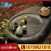 供应厂家直销石头工艺品成品 天然石茶盘