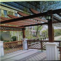 专业设计生产别墅庭院仿木纹铝合金葡萄架