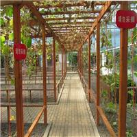 仿木纹庭院、高档小区铝葡萄架子厂家
