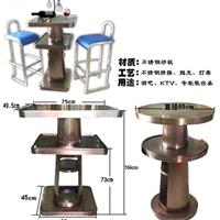 供应不锈钢钛金茶几 古铜色茶几来图定做