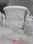 石雕花钵 石材花钵 景观广场花盆生产厂家