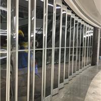 广西水晶折叠门、 铝合金水晶折叠门.
