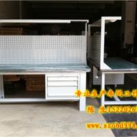 深圳1500*750*800复合板工作台配四抽落地柜