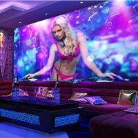 供应酒店KTV墙纸壁画 主题3d女人壁纸订制