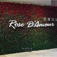 供应仿真玫瑰花墙创意主题背景墙