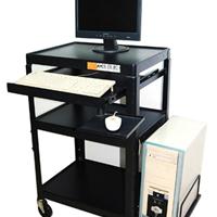 台式电脑桌推车机房设备升降架设备车