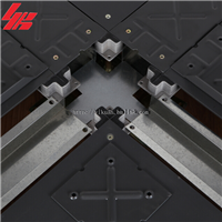 供应宜宽全钢网络活动地板配线槽地板