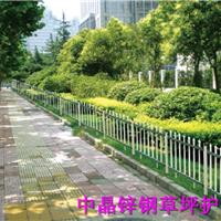 供应海安镀锌钢静电喷涂草坪护栏