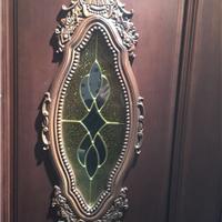 长期玻璃铜条玻璃,木门配套塑框