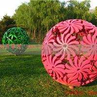 不锈钢球型雕塑 不锈钢花型艺术雕塑品
