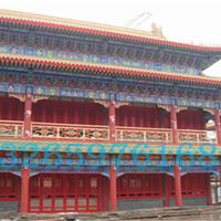 寺庙用木纹铝窗花、广州寺庙用铝窗花厂家