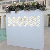 供应不锈钢烤白漆花墙 造型独特美观持久